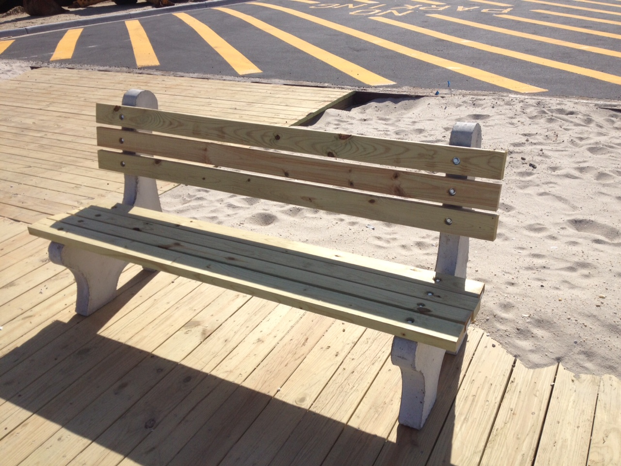 CONCRETE BENCHES Totowa Concrete Products - Pressure treated wood picnic table