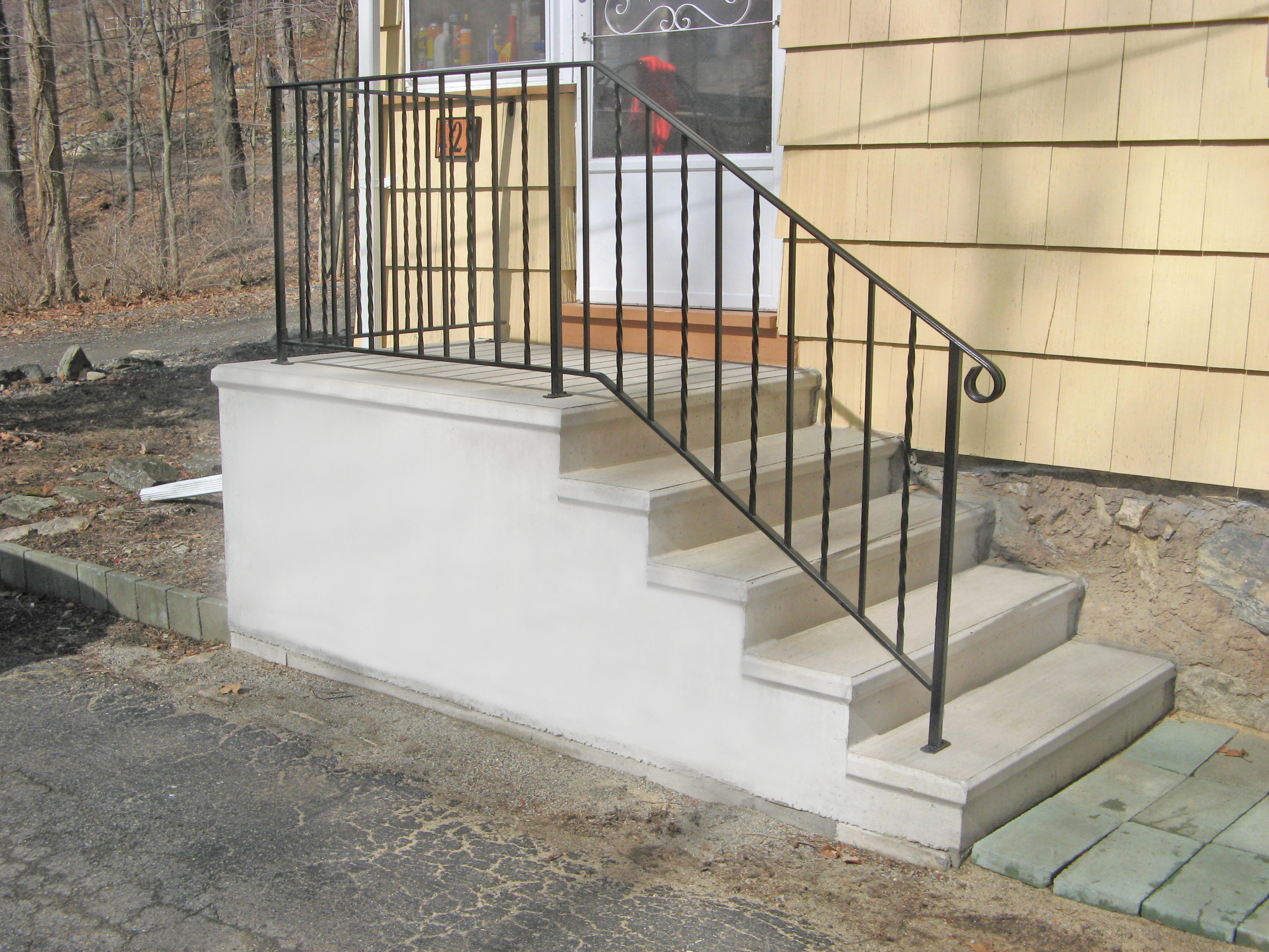 precast cement steps precast concrete steps totowa concrete products 1624